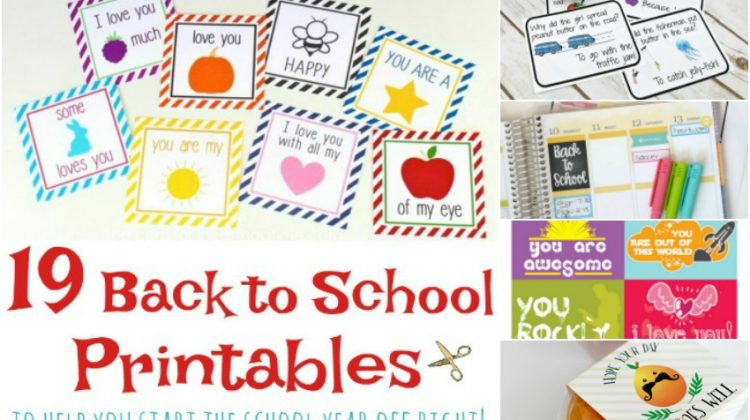 19 Back to School Printables to Help You Start the School Year Off Right #Back2School18