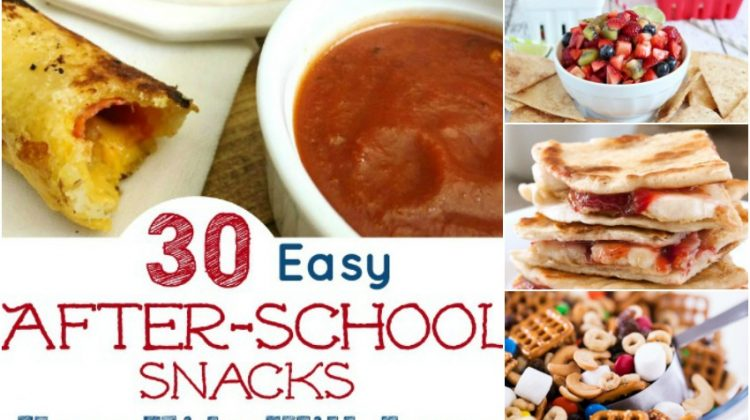 30 Easy After-School Snacks Your Kids Will Love #Back2School18
