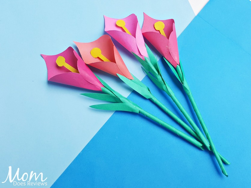 Calla Lily Craft #craft #papercraft #easycraft #flowers