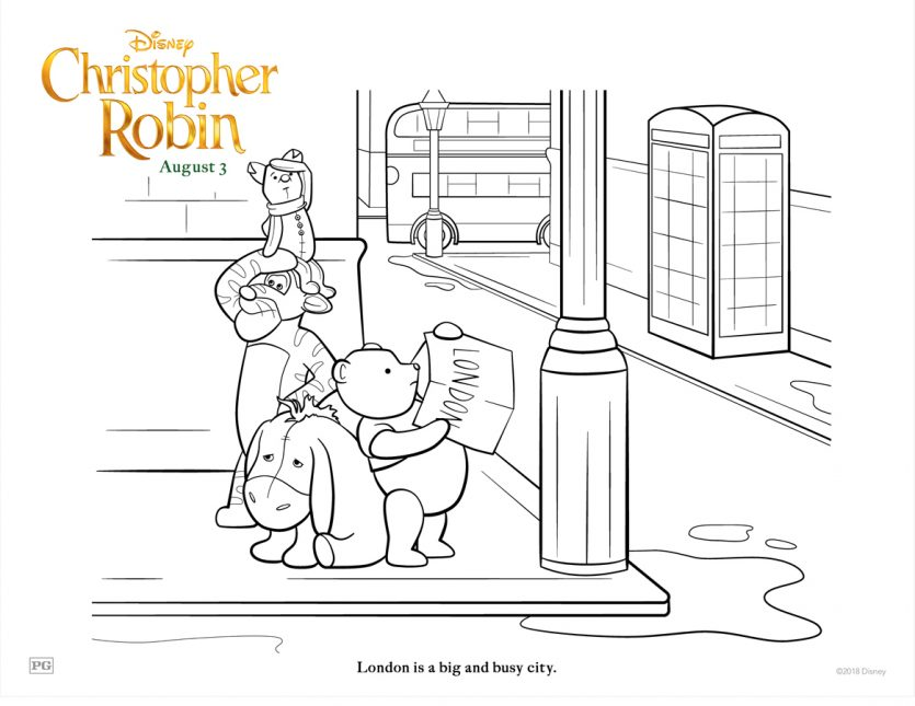 #ChristopherRobin Free Coloring Pages!