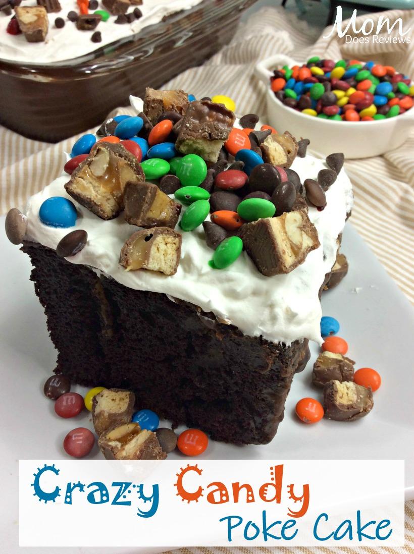 Crazy Candy Poke Cake #dessert #cakes #candy