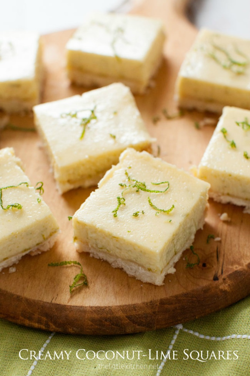 Creamy Coconut-Lime Squares