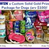 Custom Solid Gold Prize Package for Dogs (arv $100)