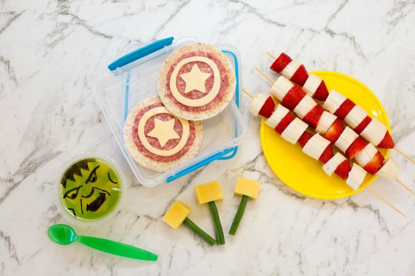 Easy Avengers Theme Lunchbox Ideas