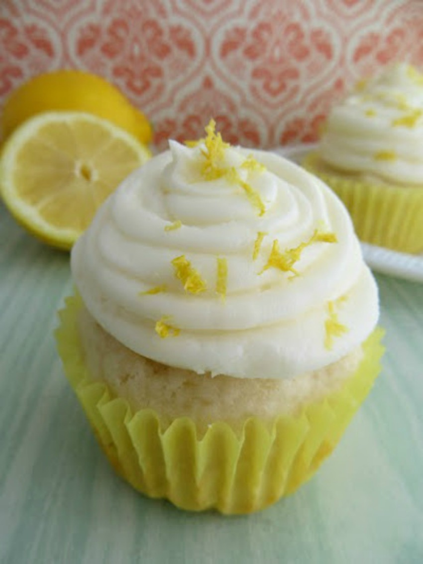 Homemade Lemon Cupcakes With Lemon Buttercream Frosting