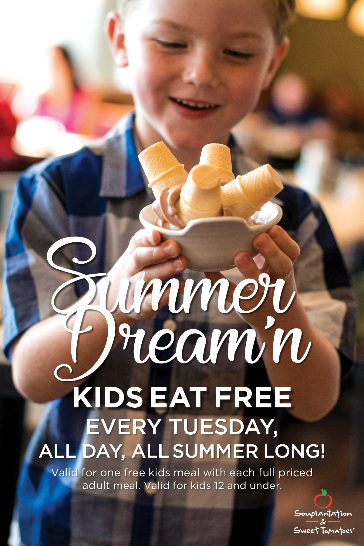 Kids Eat Free on Tuesdays all Summer Long at Sweet Tomatoes #Free
