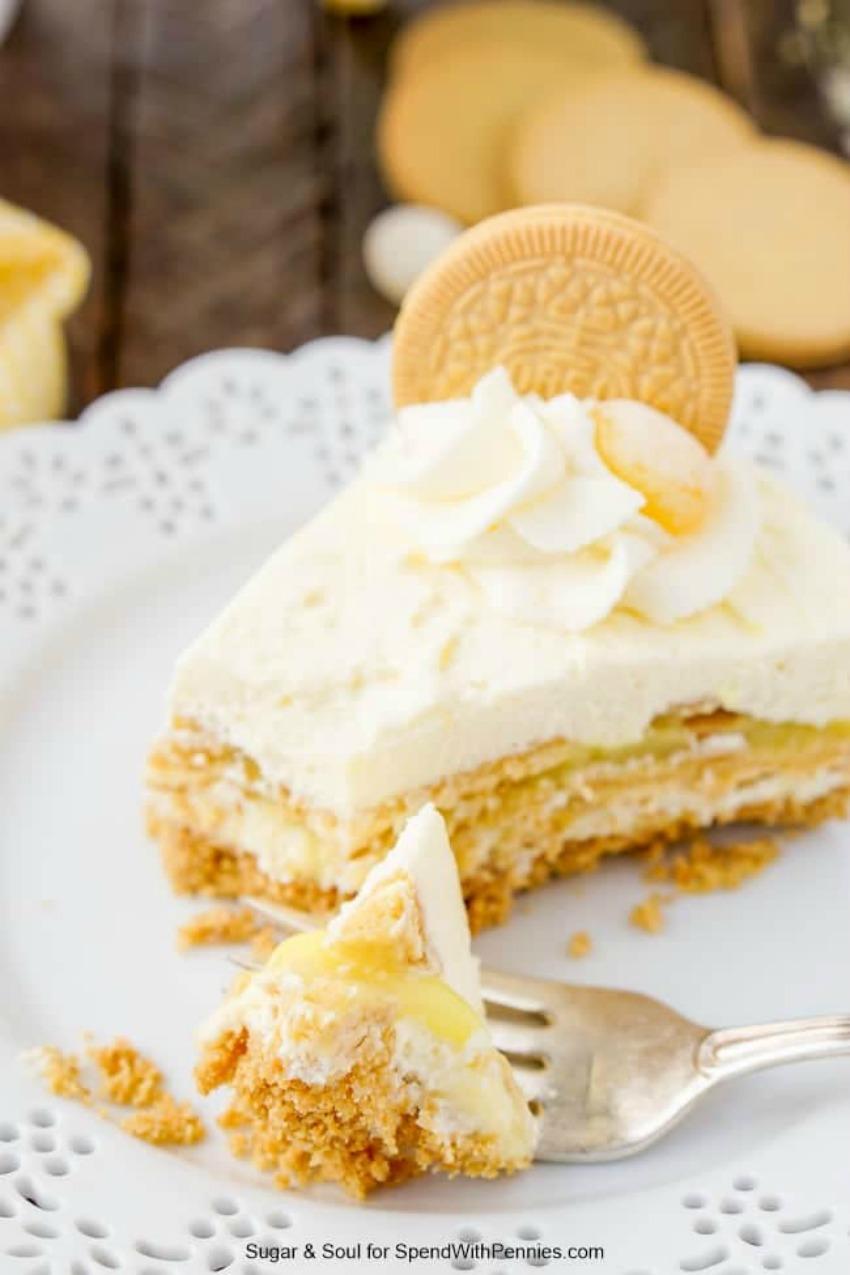Lemon Oreo Icebox Cake
