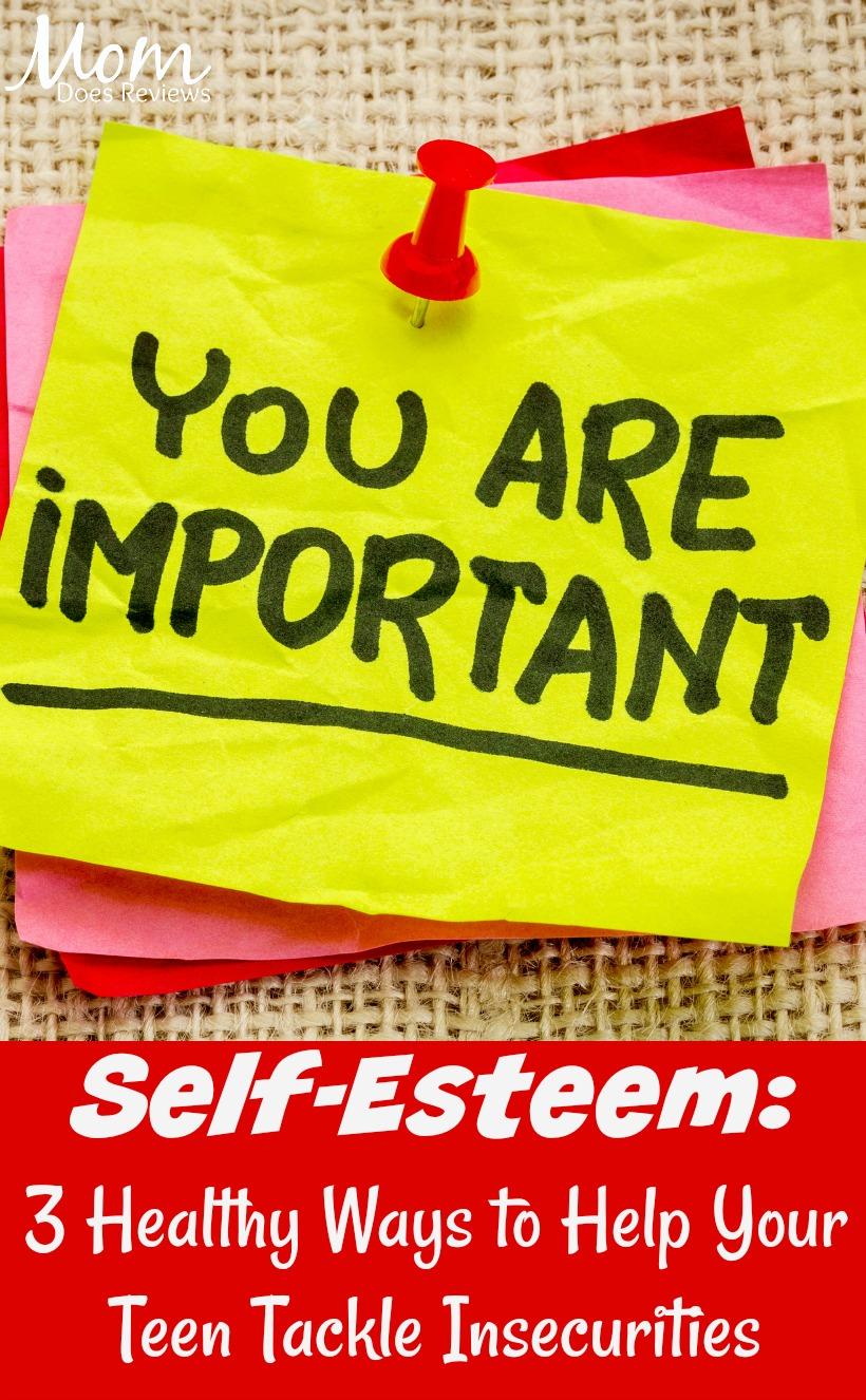 Self-Esteem: 3 Healthy Ways to Help Your Teen Tackle Insecurities #parenting #selfesteem #bepositive
