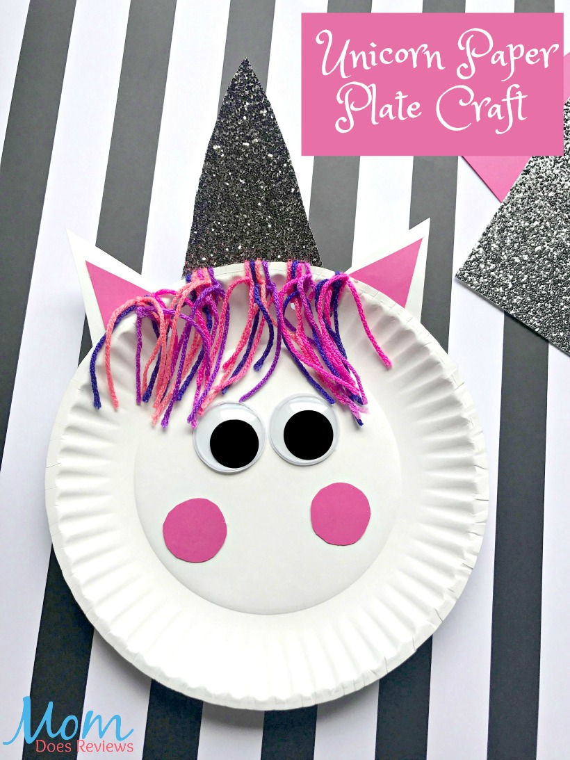Unicorn paper Plate Craft #unicorns #craft #craftsforkids #funstuff
