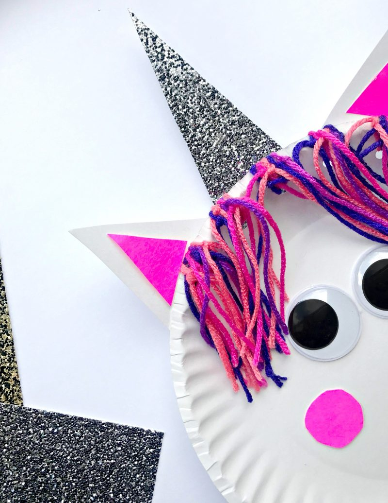 Unicorn Paper Plate Craft