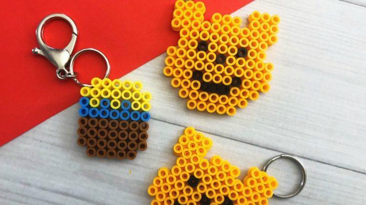 Winnie the Pooh Perler Bead Keychain
