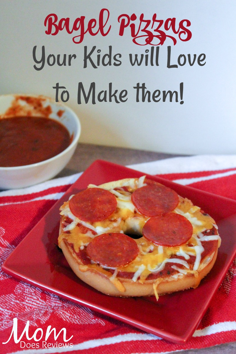 Bagel Pizzas #recipe #funfood #kidsfood #pizza