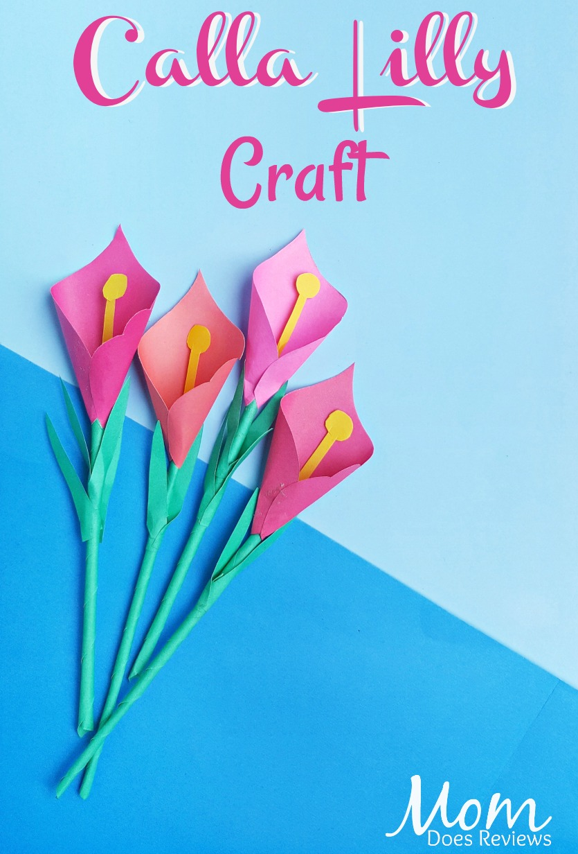 Calla Lilly Craft #papercraft #craft #flowers #easycraft