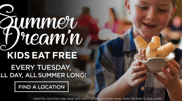 Kids Eat Free on Tuesdays at Sweet Tomatoes! #Fresh #MDRSummerFun