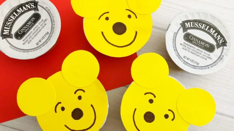 Super Cute Winnie the Pooh Applesauce & Activity Sheets your Kids will LOVE!