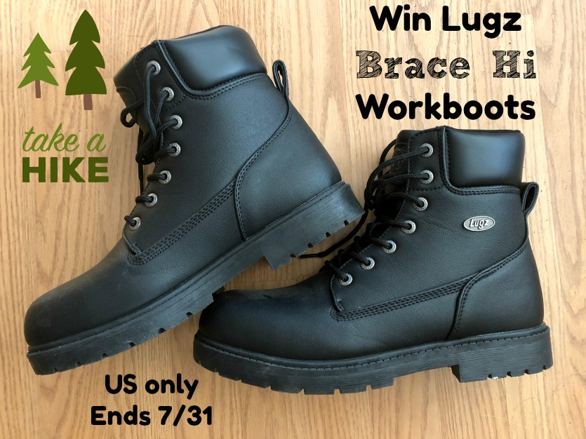 Win Lugz Brace hi Workboots #giveaway #bracehi