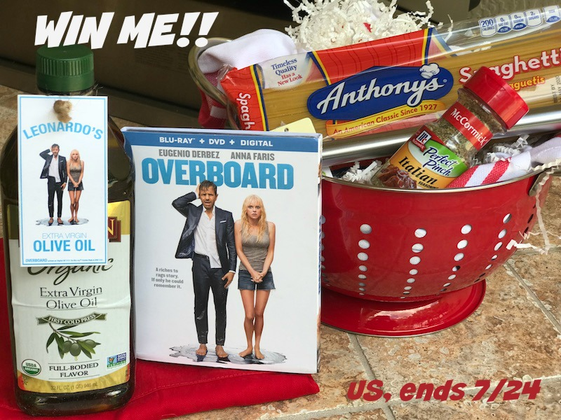 OVERBOARD With Spaghetti Giveaway July 14-24, 2018 Open to US