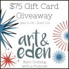 Win $75 gc to art and eden kids clothes
