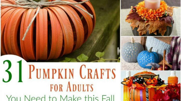 31 Pumpkin Crafts for Adults You Need to Make this Fall