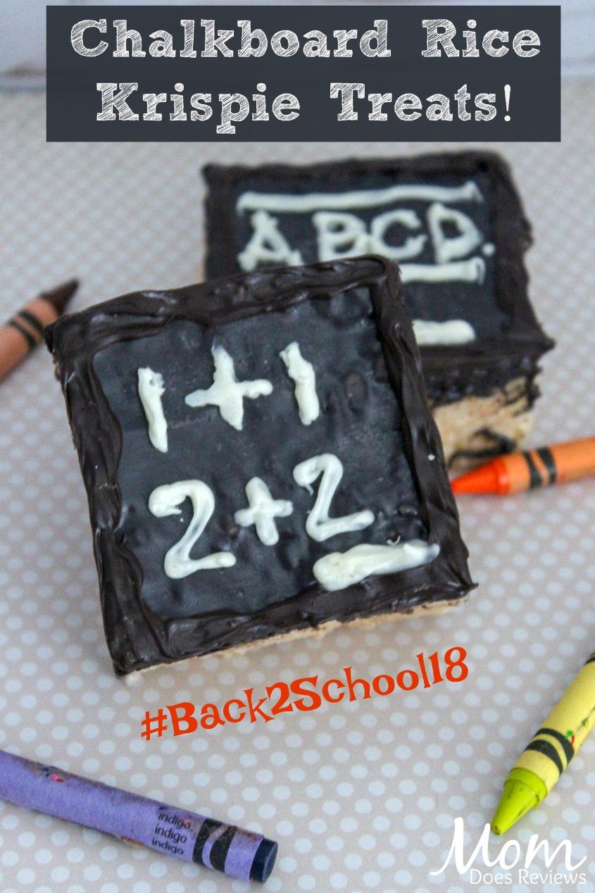 Back to School Chalkboard Rice Krispie Treats #BTS #desserts #treats