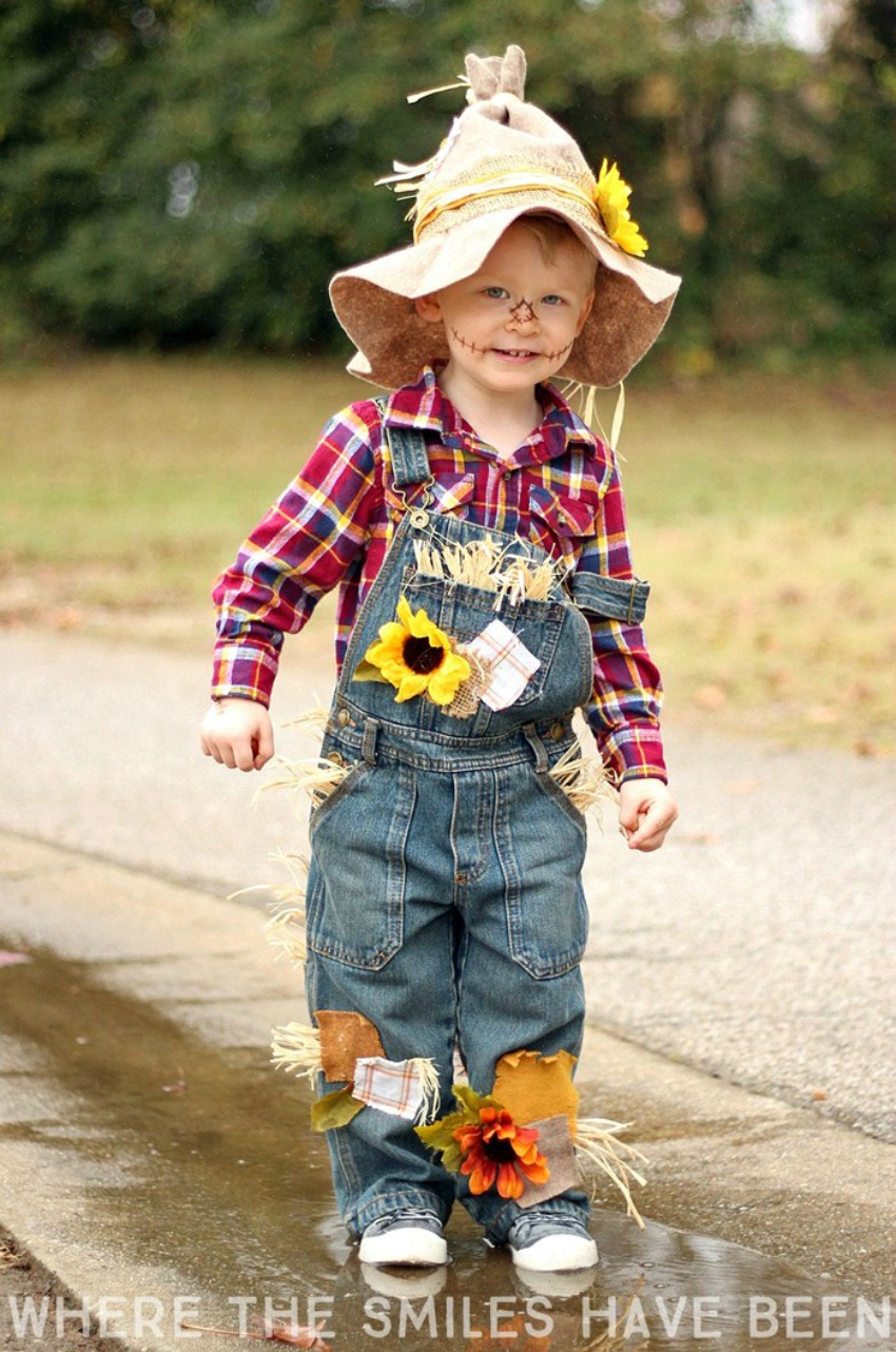 easy adorable diy scarecrow costume