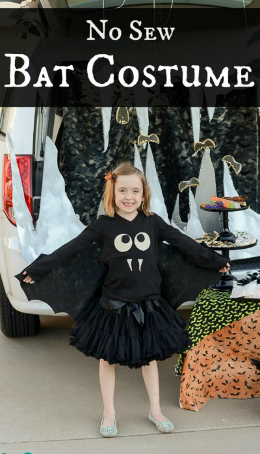 Easy No Sew Bat Costume