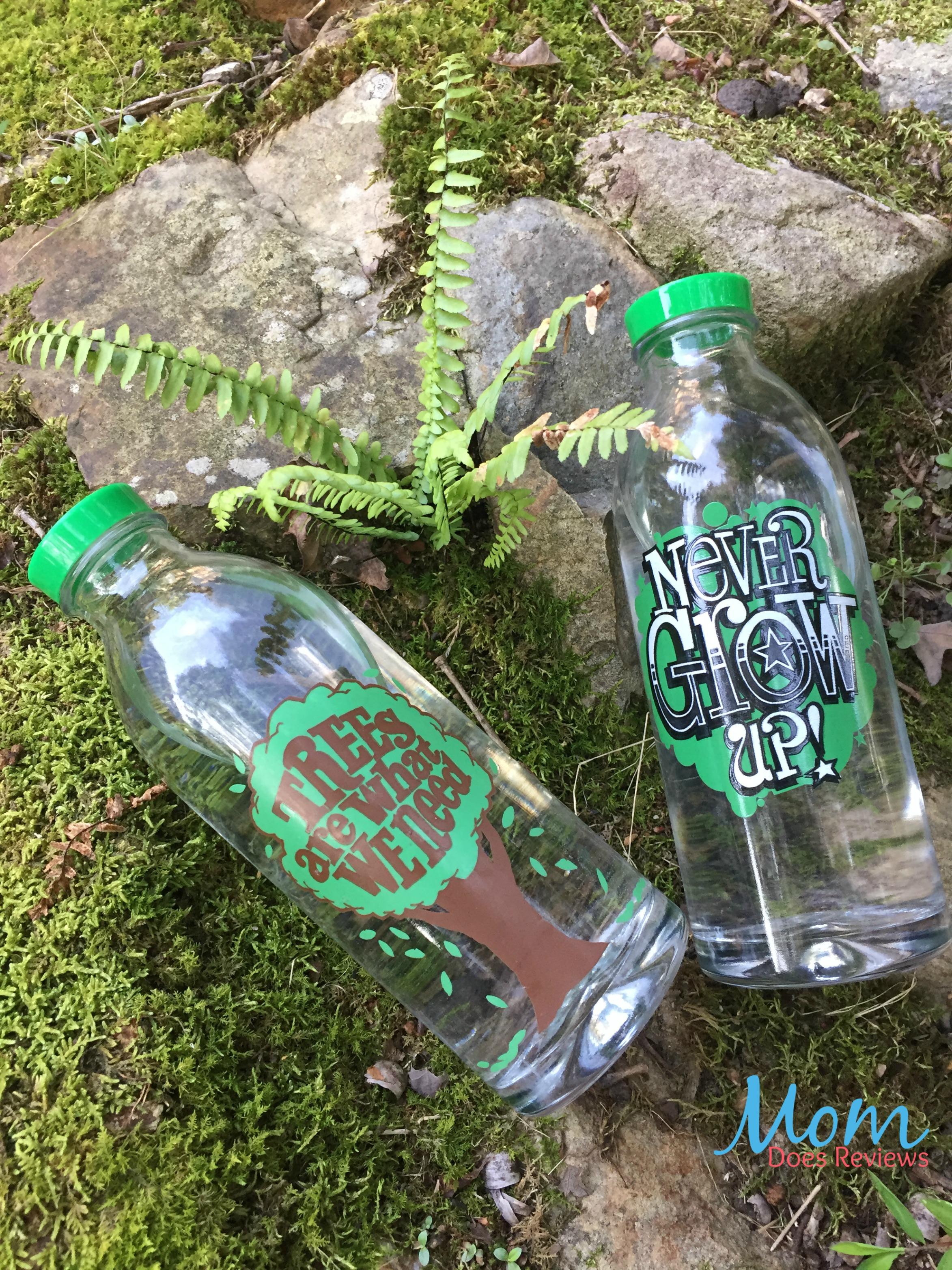 Water Tastes Better in Faucet Face Glass Bottles #Back2School18 -