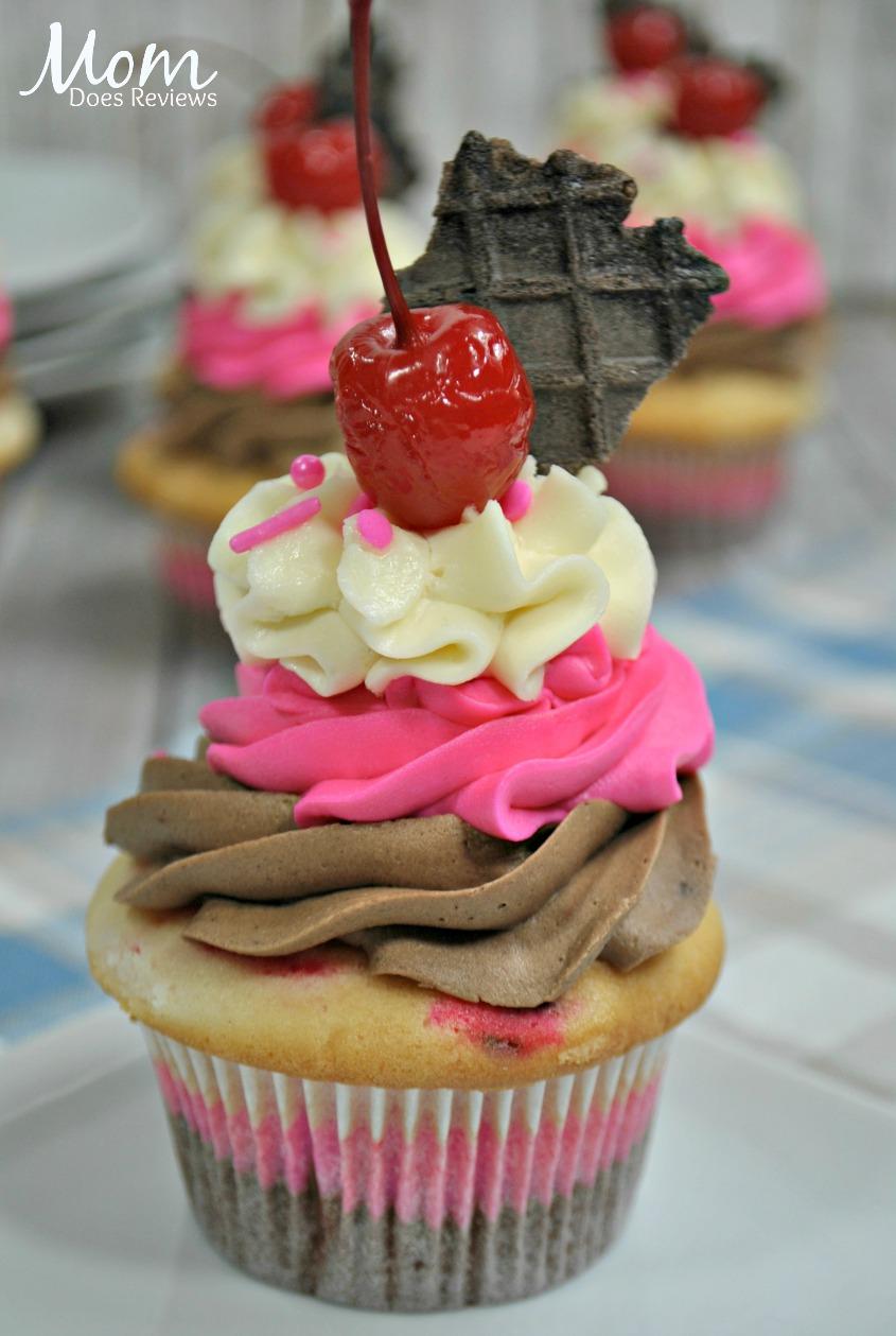 Neapolitan cupcake #dessert #cupcake #sweettreats