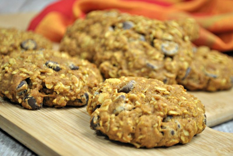 Pumpkin Oatmeal Choc Chip Cookies