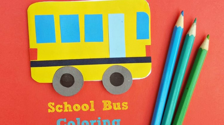 School Bus Coloring Book - a Fun Back-to-School Craft!