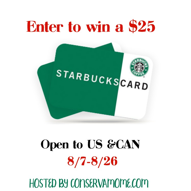 win $25 Starbucks GC