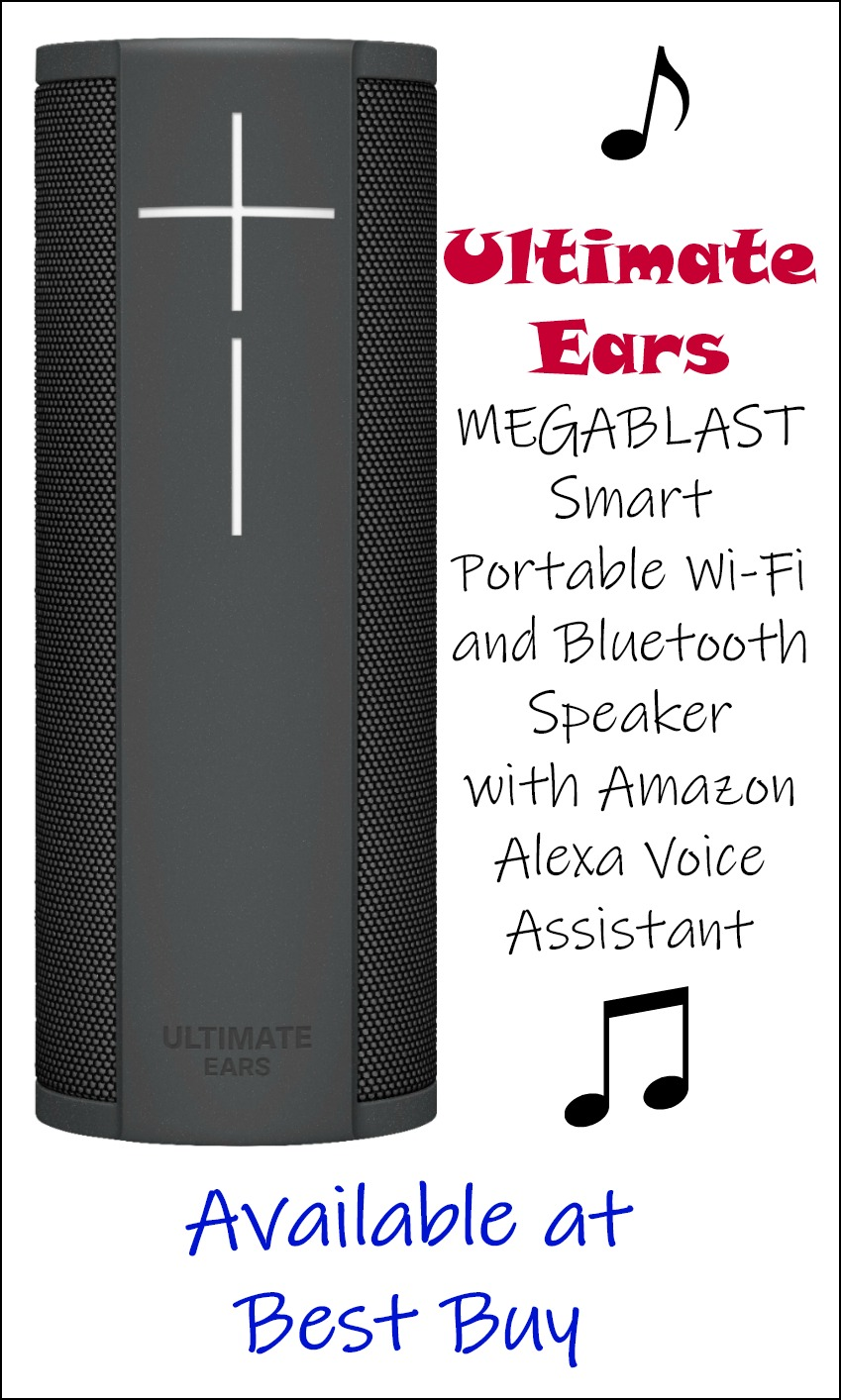 Ultimate Ears - MEGABLAST Smart Portable Wi-Fi and Bluetooth Speaker with Amazon Alexa Voice Assistant