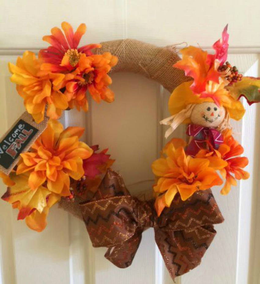 Welcome Fall Dollar Store Wreath