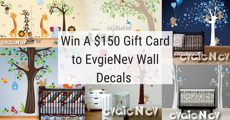 $150 Wall decals gift card to EvgieNev
