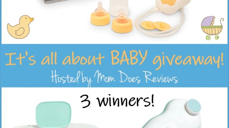 It's all about Baby Giveaway! 3 #Winners Motif Duo Breastpump, Peacelilly Nail File or Daylilly Wipe Warmer