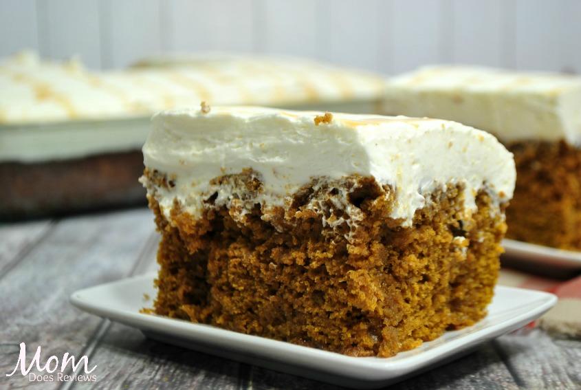 Pumpkin Caramel Cream Cheese Poke Cake