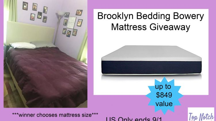 Brooklyn Bedding Bowery Mattress #Giveaway US ends 9/1