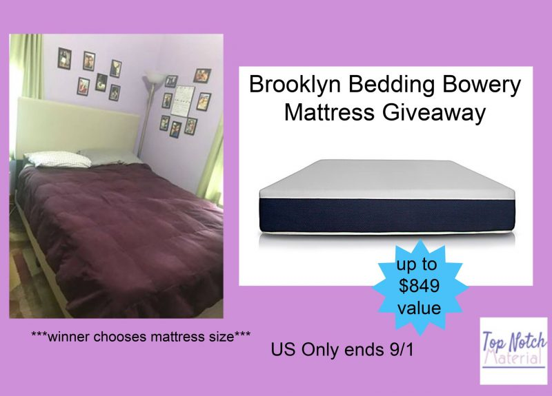 Brooklyn Bedding Bowery Mattress #Giveaway