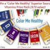 Win Color me Healthy prize pack #SuperiorSource