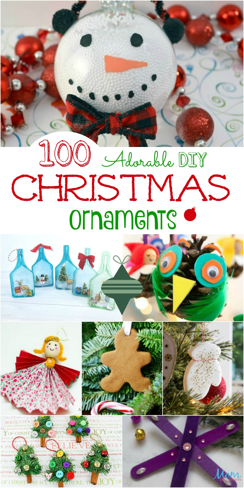100 Adorable DIY Christmas Ornaments to Hang on Your Tree