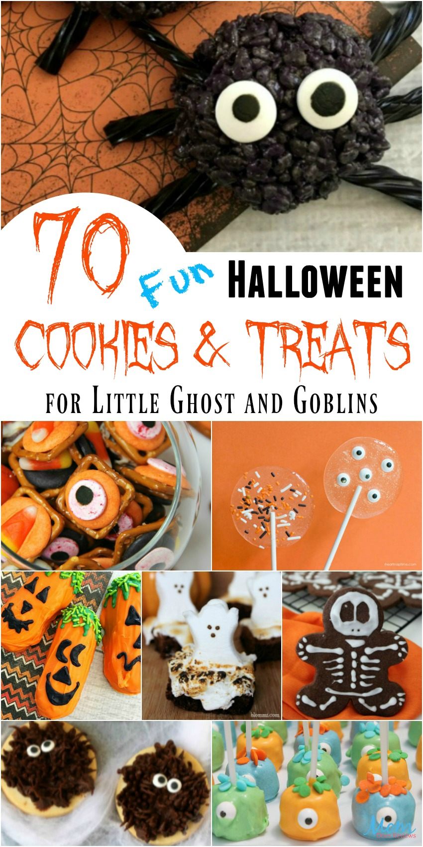 70 Fun Halloween Cookies & Treats for Little Ghost and Goblins