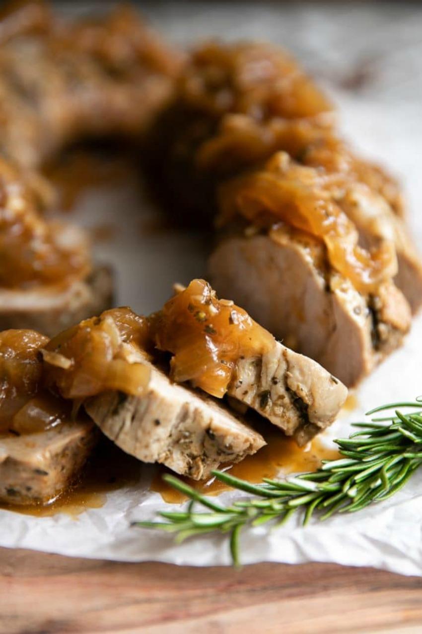 Apple Balsamic Instant Pot Pork Tenderloin