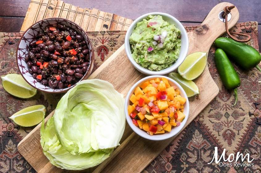 Spicy Black Bean Taco Wraps with Fresh Guacamole #Vegetarian