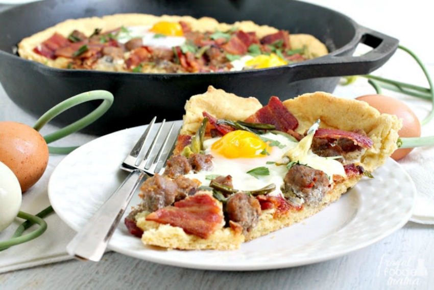 Farmers Market Breakfast Pizza