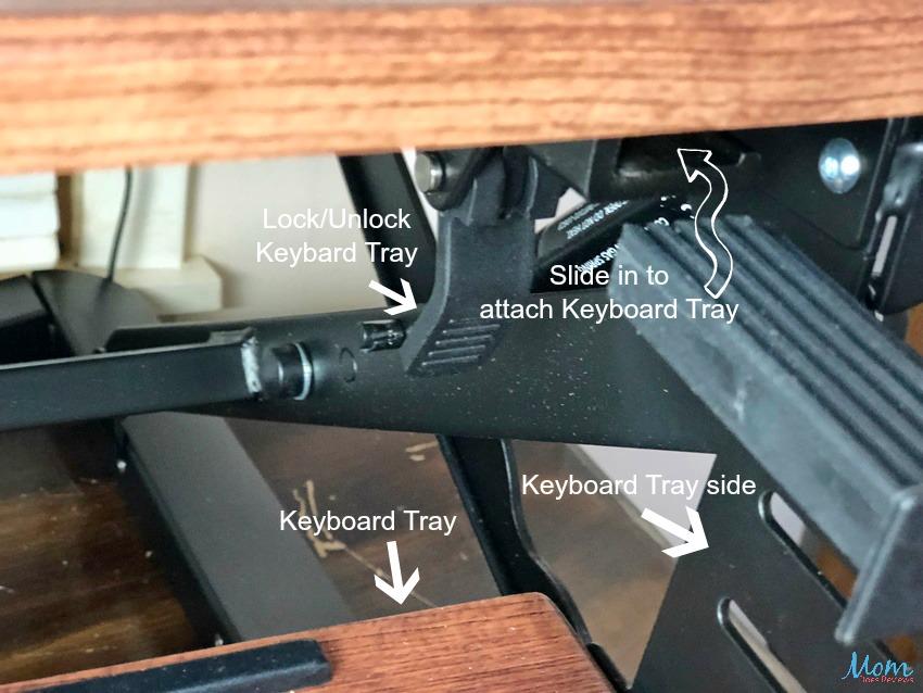 Flexispot Standing Desk - attaching keyboard