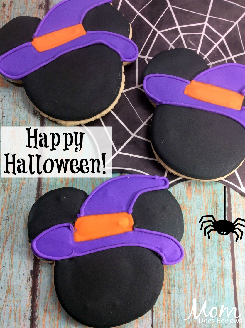 Mickey Mouse Witch Hat sugar cookies #halloween #cookies #mickeymouse