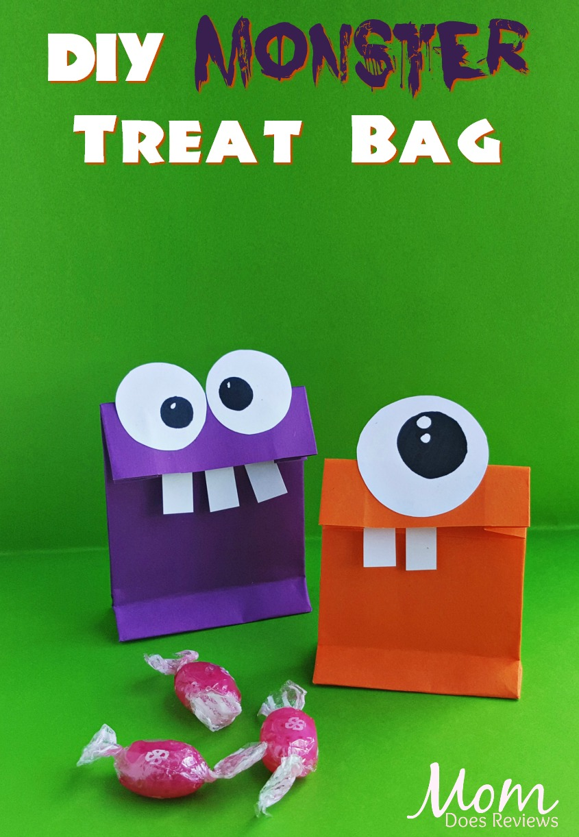 Monster Treat Bag #craft #diy #halloween