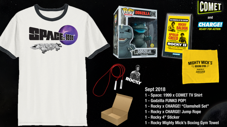 COMET & CHARGE! September Giveaway! Space: 1999! Rocky Marathon! Godzilla Double Features! And More! #MegaChristmas18