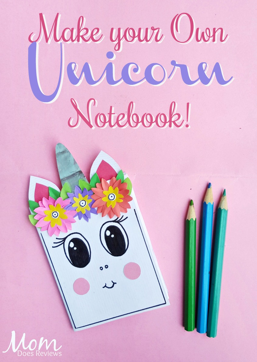 Make your Own Unicorn Notebook #unicorns #diy #craft