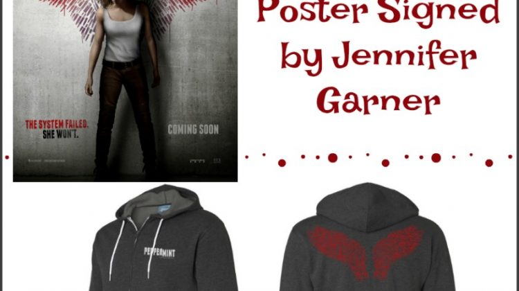 #Win a Hoodie and Poster signed by Jennifer Garner from the #Peppermintmovie #ad